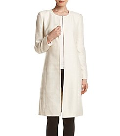 Calvin Klein Tweed Sequin Duster Jacket