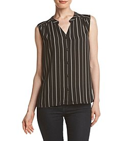 Nine West® Stripe Button Down Tank
