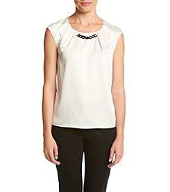 Nine West® Pleat Neck Tank