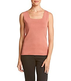 Kasper® Square Neck Tank Sweater