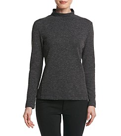 Calvin Klein Textured Mock Neck Top