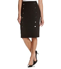 Calvin Klein Button Front Detail Pencil Skirt