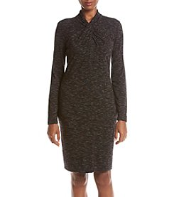 Calvin Klein Space Dye Knot Neck Dress