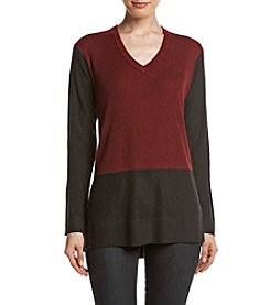 Vince Camuto® Color Block Waffle Sweater