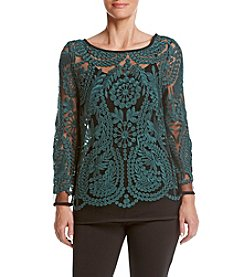 Joan Vass New York Lace Top with Tank