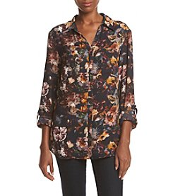 Relativity® Printed Utility Blouse