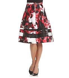 Relativity® Floral Print Skirt