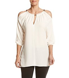 MICHAEL Michael Kors® Chain Neck Cold Shoulder Top