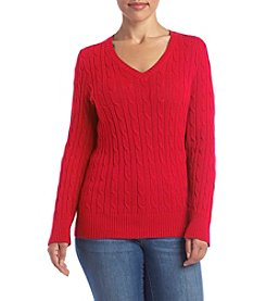 Studio Works® Plus Size Cable Knit Sweater
