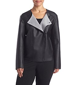 MICHAEL Michael Kors® Plus Size Bonded Faux Leather Jacket