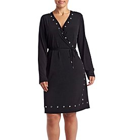 MICHAEL Michael Kors® Plus Size Dome Stud Wrap Dress