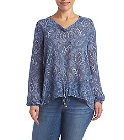 MICHAEL Michael Kors® Plus Size Printed Textured Top