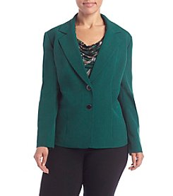 Kasper® Plus Size Stretch Crepe Jacket