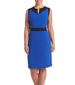 Nine West® Plus Size Stretch Crepe Sheath Dress