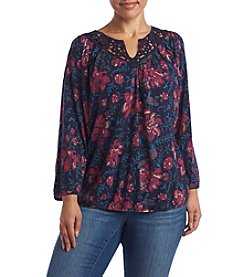 Lucky Brand® Plus Size Katie Floral Print Top