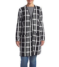 AGB® Plus Size Plaid Menswear Topper