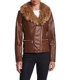 Gallery® Quilted Faux Leather Coat
