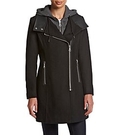 Andrew Marc® Phoenix Asymmetrical Zip Coat With Hood