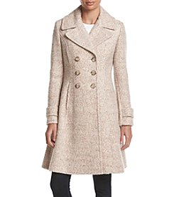 Ivanka Trump® Double Breasted Fit And Flare Coat