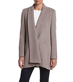 Calvin Klein Drape Front Short Robe Coat