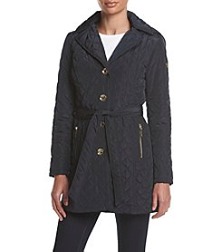 MICHAEL Michael Kors® Belted Diamond Quilt Coat