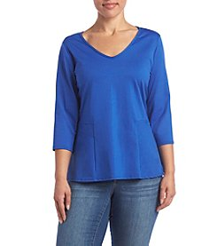 Studio Works® Plus Size Peplum Top