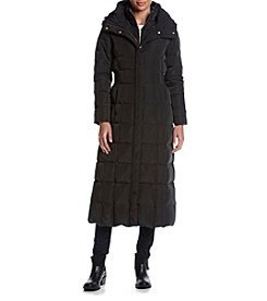 Cole Haan® Box Seamed Maxi Coat