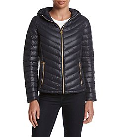 MICHAEL Michael Kors® Short Hooded Packable Down Coat