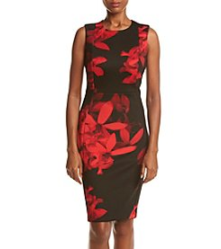 Calvin Klein Floral Printed Scuba Dress