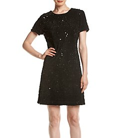 Tommy Hilfiger® Flock Sequin Dress