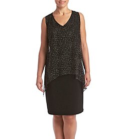 S.L. Fashions Mesh Popover Dress