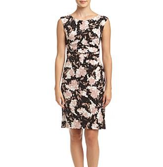 Jessica Howard Reg Petites Floral Sheath Dress | Clothing