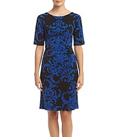 Connected® Petites' Side Tuck Dress