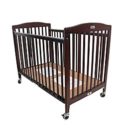 LA BABY Full Size Wood Folding Crib