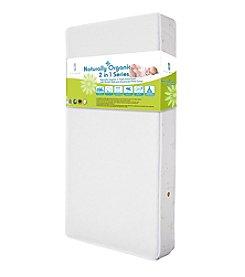 LA BABY Naturally Organic V Triple Zone 2-in-1 Crib Mattress with Breath Safe and Organic Cotton Cover