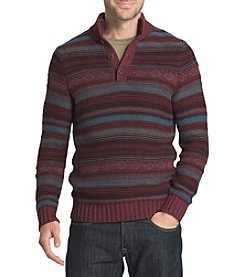 G.H. Bass & Co. Men's Button Mockneck Sweater