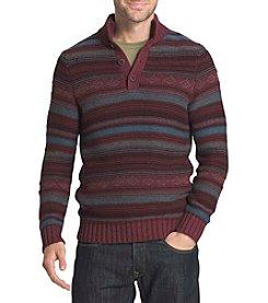 G.H. Bass & Co. Men's Button Mock Sweater