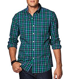 Chaps® Men's Long Sleeve Mini Plaid Easy-Care Button Down Shirt