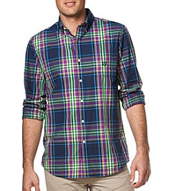 Chaps® Men's Long Sleeve Plaid Easy-Care Button Down Shirt