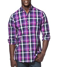 Chaps® Men's Long Sleeve Large Plaid Easy-Care Button Down Shirt