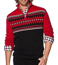 Chaps® Men's 1/4 Zip Mock Neck Sweater
