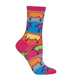 Hot Sox® 1 Pair Pop Pigs Crew Socks