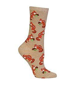 Hot Sox® 1 Pair Chipmunk Crew Socks