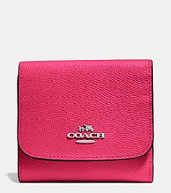 COACH SMALL WALLET CROSSGRAIN LEATHER