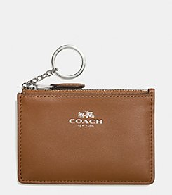 COACH BOXED MINI SKINNY ID CASE IN CALF LEATHER