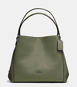 COACH EDIE SHOULDER BAG IN MIXED MATERIALS