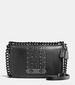 COACH BANDANA RIVET SWAGGER SHOULDER BAG