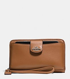 COACH BOXED UNIVERSAL WALLET IN CALF LEATHER