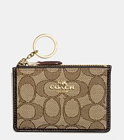 COACH BOXED MINI ID SKINNY CASE IN SIGNATURE JACQUARD