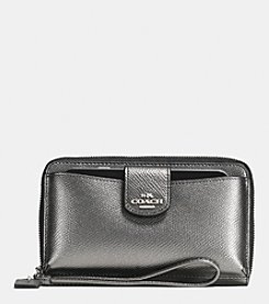 COACH BOXED UNIVERSAL WALLET WITH PHONE POCKET